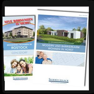 Flyer und Broschüren Semmelhaack Wohnungsbau